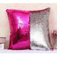 Buy cheap 2016 Hot sale Mermaid VR cushion Sequin home decor pillow cushion from wholesalers