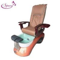 Buy cheap Newest beauty salon manicure pedicure chair with glass sink SY-P500 from wholesalers