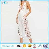 Wholesale Embroidered Linen Jumpsuit from china suppliers