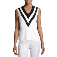 Wholesale Rag & Bone Daphne Striped Knit V-Neck Tank White Women Apparel Tops from china suppliers