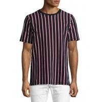 Buy cheap Rag & Bone Disrupted Striped T-Shirt Navy\/white\/red Men Apparel Polos & T-Shirts from wholesalers