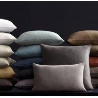 Wholesale 100% Linen/Cotton mixed colorful plain cushion cover from china suppliers